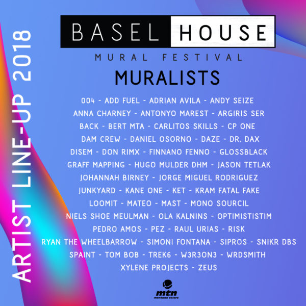 Lineup of Artist at Basel House